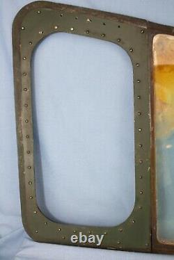 RARE WW2 US Army Air Force B-17G & Later Models Co-Pilots Front Window Original