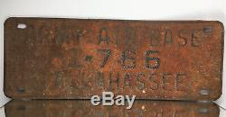 RARE WW2 WWII Tallahassee Army Air Base (Dale Mabry Army Airfield) License Plate