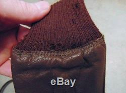 Rare Orig. WWII Army Air Forces Pilot Flight Gloves Type A-10, Size 10 1/2, AAF