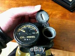 Rare U. S. Wwii Army Air Corps D-2 Walk Around Oxygen Bottle & Bag B-17 B-24
