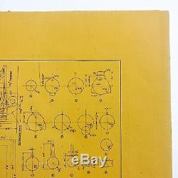 Rare WWII 1944 U. S. Army Air Corps Boeing B-17 Flying Fortress Blueprints Relic