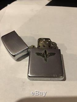 Rare Ww2 Era Us Army Air Corps Pilot Wing Insignia Zippo Lighter
