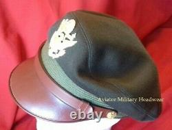 Repro WW2 8th Air Force Officers Visor Crusher Cap Hat Wool USAAF US Army OD51