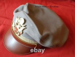 Repro WW2 Officer's Visor Crusher Cap Hat Pink 100%Wool USAAF Army Air Force