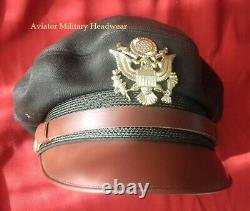Repro WW2 USAAF Air Force Officer Crusher Cap Hat Flighter Style 100% Wool OD51
