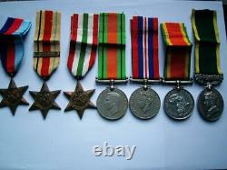 Sergeant WW2 N Africa Italy 1939-45 star SA Air Force & Territorial medal group