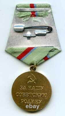 Soviet Russian ARMY WW2 Medal For Defense of the KIEV and PHOTO Soviet Air Force