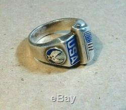 Sterling WW2 Army Air Force USA Ring, Size 11