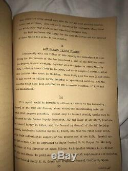 USAAF WWII FINAL REPORT Army Air Force Womens Air Service Pilot WASP 1944 AAF