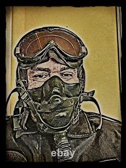 US ARMY Air Force WW2 Pilot Sauerstoffmaske Fliegerhaupen Fliegerbrille WK2 P51
