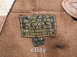 US Army Air Corps Pre-WW2 PILOT A-2 HORSEHIDE LEATHER FLIGHT PANTS Vtg Fly RARE