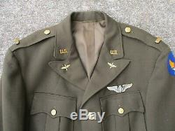 US Army Air Force Officers WWII Wool Jacket and Pink Trousers Attributed