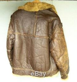 US Army Air Force Shearling WWII FLIGHT JACKET BOMBER 40R