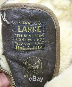US Army Air Force Shearling WWII Type A-6 Converse Flight FLYING Boots Large