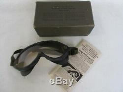 US Army Polaroid Airforce B8 Flying Goggles M-1944 WK2 WWII Mint in Box USAAF