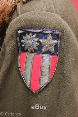 US WW2 AAC Army Air Corps Force Tailor Made CBI Ike Jacket Bullion Patch J141