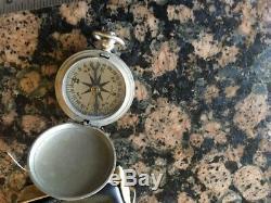 US WW2 USAAF Army Air Forces Pocket Compass Longines-Wittnauer Original