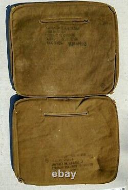 US WWII Army Air Force Canvas Parachute Seat Cushion