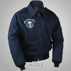 U. S. Air Force One A2 Jacket Reissue WWII Coat Obama Navy Army Outer Winter