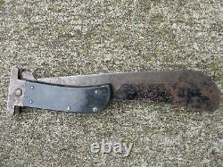 U. S. Army Air Forces WWII Folding Survival Machete Marked Cattaragus U. S. A