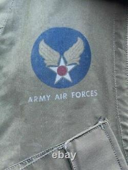 U. S Army Vtg Air Force WW2 Pilot Slant Pocket C-1 Survival Vest Exc. 45 Holster