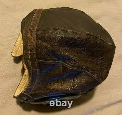 U. S. Army Ww2 Air Force Type A-1 Leather Flying Helmet Size S Selby Shoe Co. Gvc