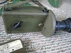 U. S. M. C. 16mm Gun Camera, LENS, WWII USAF Army Air Force. 2 MAGAZINES