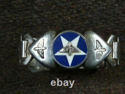 Unusual WW II Era Army Air Force Silver Sweetheart Jewelry Bracelet
