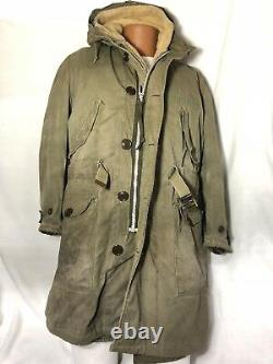 Us Military Wwii Cold Weather Winter Parka D-1 Army Air Force Alpaca Liner M Vgc