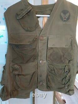 VEST, EMERGENCY SUSTENANCE TYPE C-1, US ARMY AIR FORCE WWII WW2 Original Vintage