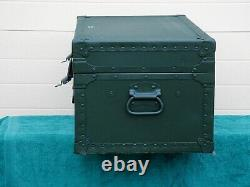 VINTAGE 1949 WORLD WAR 2 US ARMY AIR CORP FOOT LOCKER from GENERAL PRODUCTS