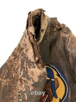 VINTAGE Drawing WW2 Type A-2 US Air Force 36th Fighter Squadron Men's Jacket