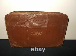 VTG-United States Air Force Army WWI WWII Leather Briefcase Pilots Kit