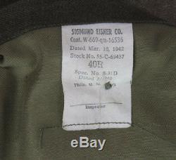 Veste d'un sous-offcier de l'USAAF- Army Air Force WW2 (matériel original)