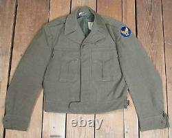 Vintage 1940s US Army Air Forces Wool Field Jacket WWII Wings Patch 34 Military