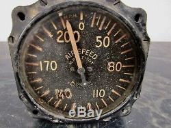 Vintage 1940s airspeed airplane gauge U. S. Army Air Force aircraft parts WWII
