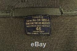 Vintage 30s 40s mens olive C-2 AIR FORCE SWEATER army cardigan military WW2 46