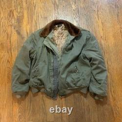 Vintage 40s 50s wwii b-15 jacket army air forces M L bomber flight jacket