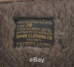 Vintage B-11 Air Force jacket Alpaca hood Military WWII US Army Air Force