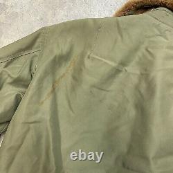 Vintage B-15 Army Air Force Jacket WWII 40s Size 36 Talon Zipper