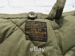 Vintage Eddie Bauer WWII Army Air Forces Goose Down A-8 Flight Pants sz 38