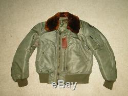 Vintage Original WW2 US Army Air Force PILOT B-15 B Bomber flight jacket Sz 38