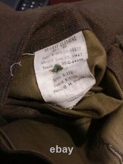 Vintage Us Military Ww2 U. S. Army Air Corps Uniform Coat Size 39r