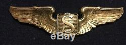 Vintage WW2 Sterling US ARMY AIR CORPS Service Pilot Wing by A. E. Co