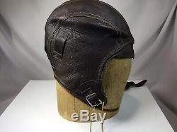 Vintage WWII ARMY AIR FORCE FLIGHT HELMET WITH PILOT'S PICTURE