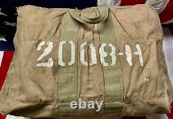 Vintage WWII US Army Air Corps Aviators Kit Bag AN 6505-1 Stencil USAAF Military