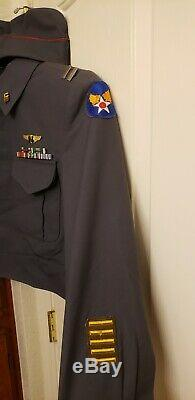Vintage WW II Army Air Force Flight Nurse Uniform with Ribbons with Badge