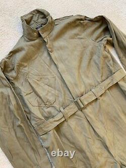 Vtg NOS US Army Air Force WW2 Summer Type A-4 Flight Suit Wool Gabardine XXL 48