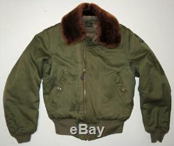 Vtg WWII B-15 Flight Jacket 38 US Army Air Force Authentic Excellent Condition