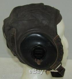 WW2 Army Air Corp Type A-11 Leather Flight Cap-Type A-9A High Altitude Gloves